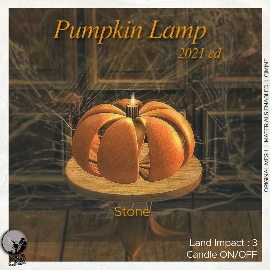 Petit Chat : Pumpkin Lamp Stone @ Secret Sale Sundays