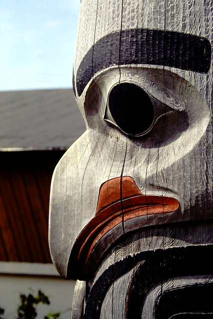 Totem pole, Prince Rupert, British Columbia, Canada (1984)
