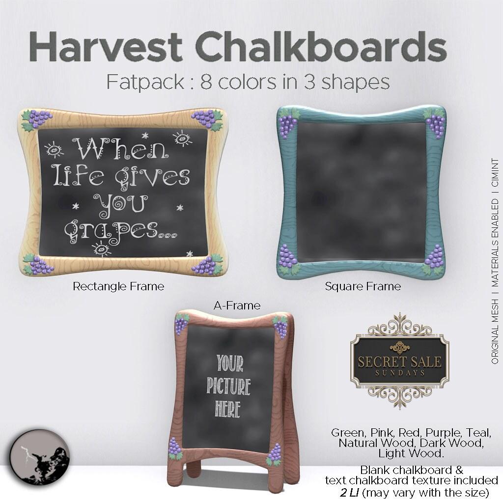Petit Chat : Pumpkin Lamp Harvest Chalkboard fatpack @ Secret Sale Sundays