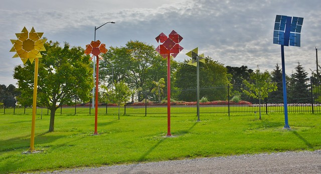 Kinetic Symmetry by Ivan Black, Hendrie Park, Royal Botanical Garden, Hamilton, ON