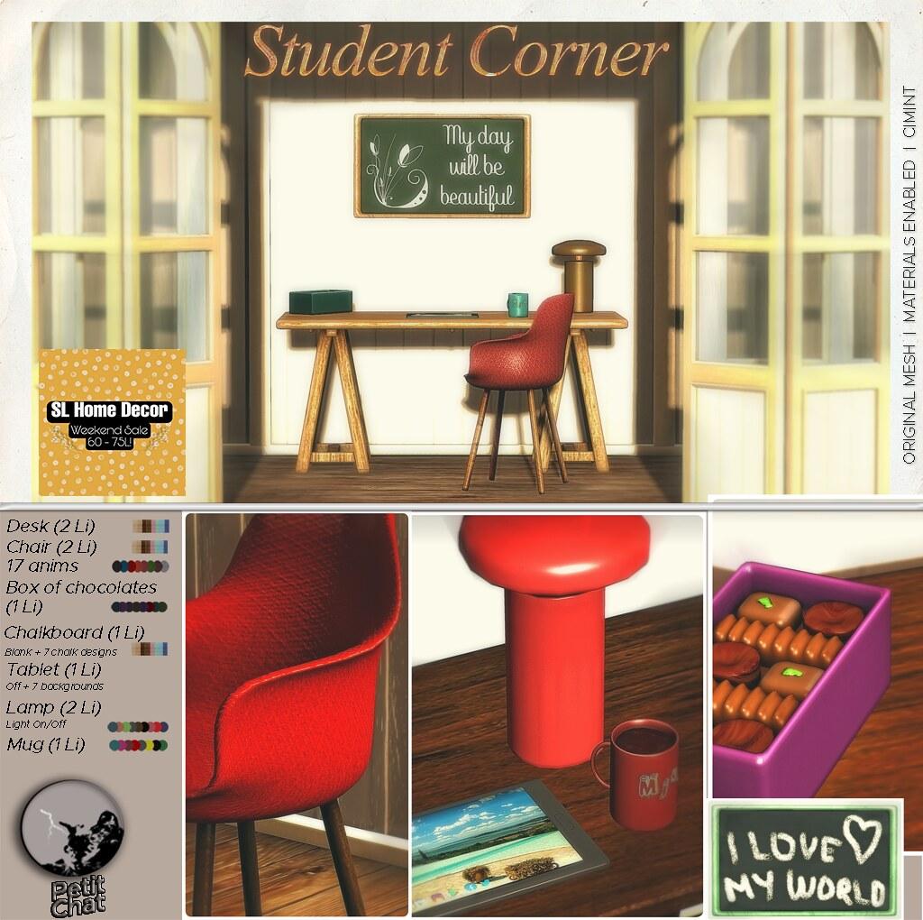 Petit Chat : Student Corner Set @ SL Home & Decor weekly Sale