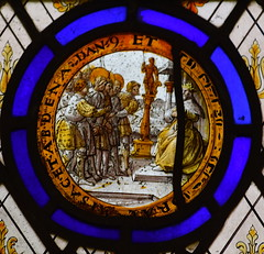 Shadrach, Meshach, and Abednego brought before Nebuchadnezzar (continental, 17th Century)