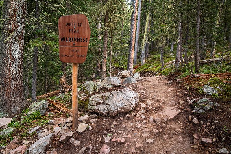 Wheeler Peak Wilderness Sign