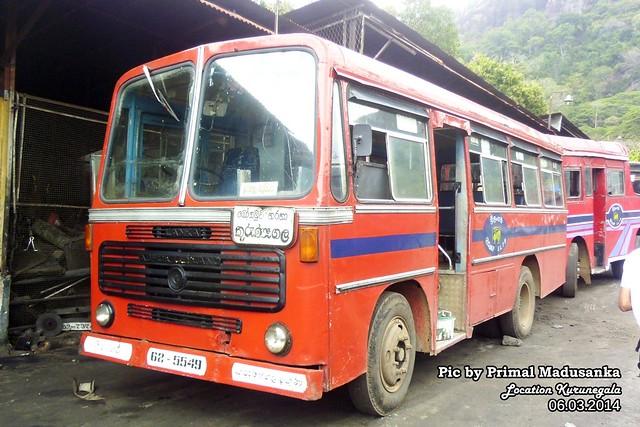62-5549 Kurunegala South  Depot Ashok Leyland - Comet Minor D type Bus at Kurunegala in 06.03.2014