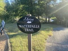 Waterfalls Trail Sign