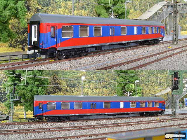 Sachsenmodelle / Tillig 74712 - 1 Halbgepäckwagen der BTE