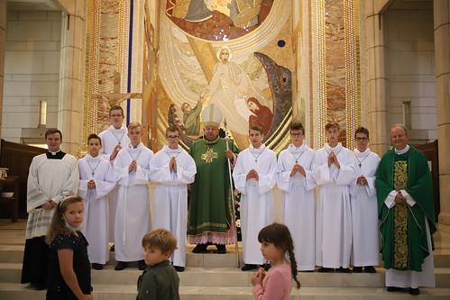 Błogosławieństwo lektorów w Sanktuarium św. Jana Pawła II w Krakowie 26.09.2021 r.