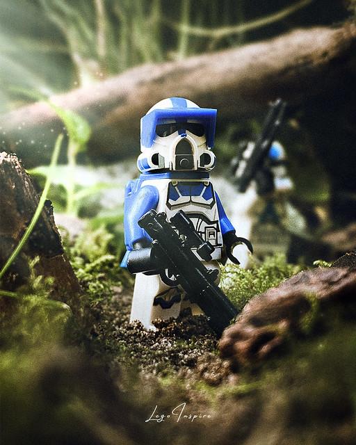 ARF trooper on patrol on Endor