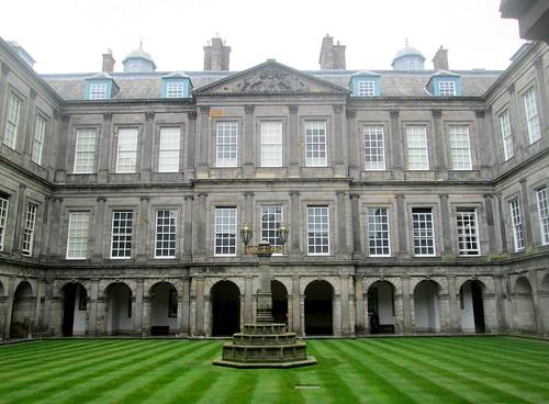 Holyrood Palace Courtyard , Edinburgh, Scotland