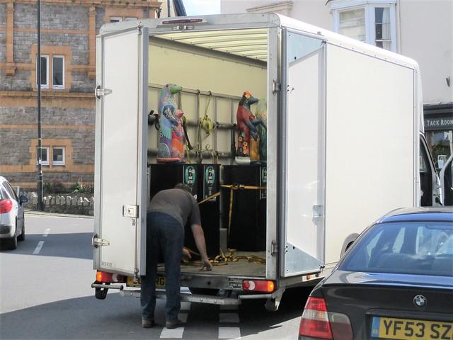 Moretonhampstead Otter load up inside van