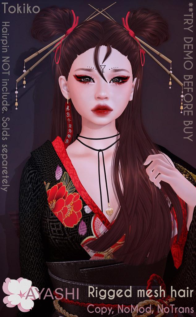 [^.^Ayashi^.^] Tokiko hair&hairpin special for Neo-Japan