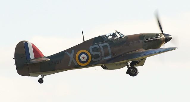 RAF Hawker Hurricane Mk1 V7497 G-HRLI SD-X No 501 Squadron