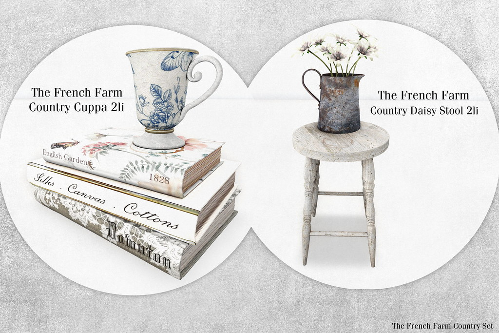 The French Farm-Cuppa and Daisy Stool