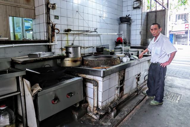 Kitchen of a street restaurant