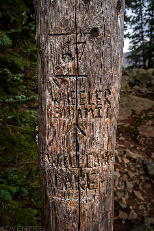 Trail Junction Marker