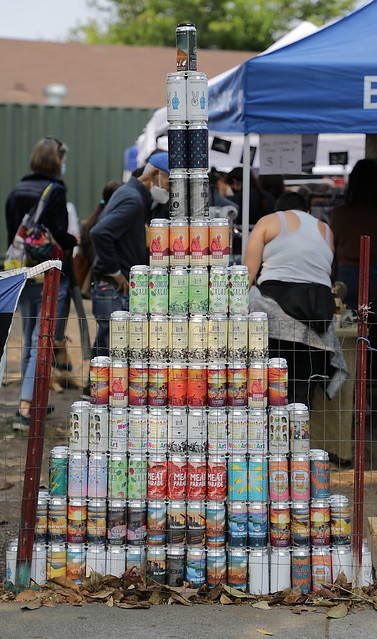 Beer-can tower