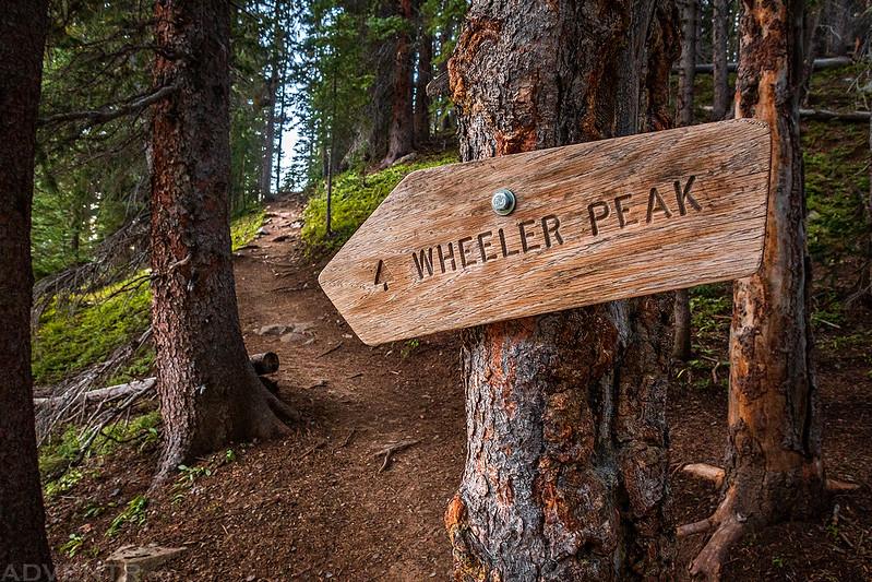 Wheeler Peak Trail Sign