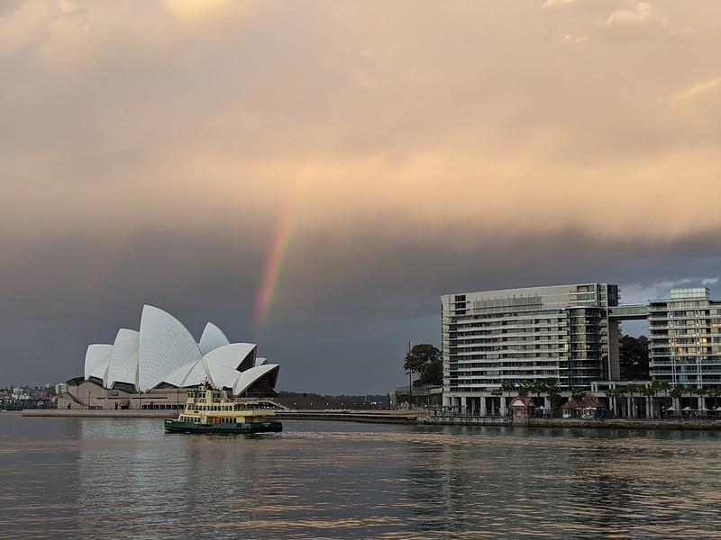 Rainbow over the Opera House