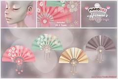 MAKOKOI . Hiromi's Fan Earrings
