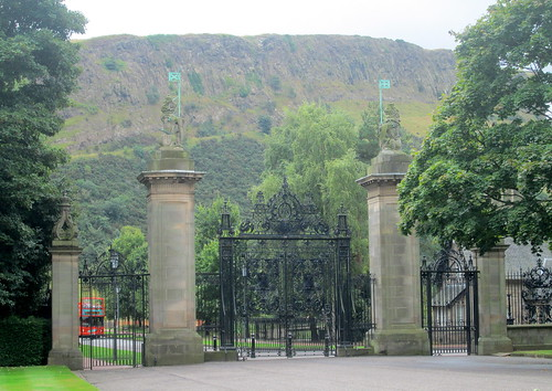 Holyrood Palace gates, Edinburgh, Scotland