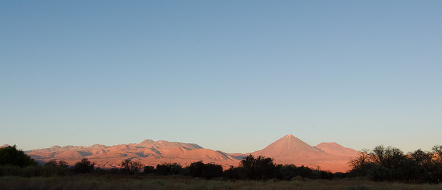 Sunset. Licancabur Volcano