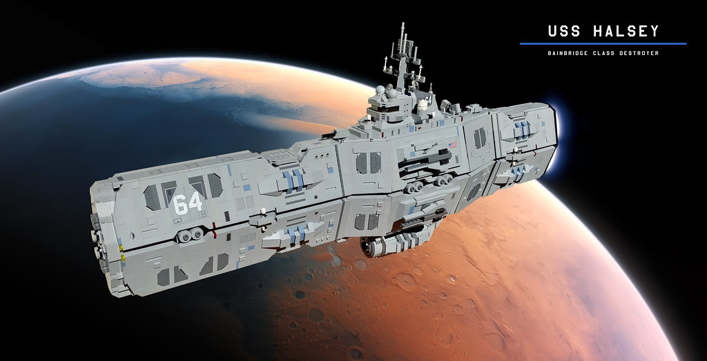 Space battleship inspired by US Navy ships is on-target