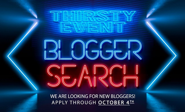 Thirsty Event - Blogger Search - Sep 2021