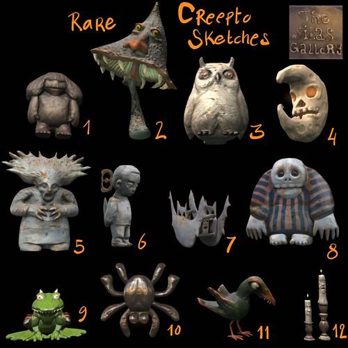 Creepto Sketches vendor image listing each item.