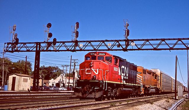 CN GP40-2LW 9626, Homewood, IL