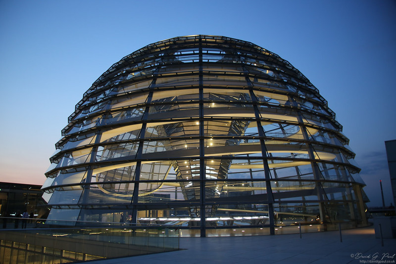 Reichstag Rooftop Terrace with a view of the dome