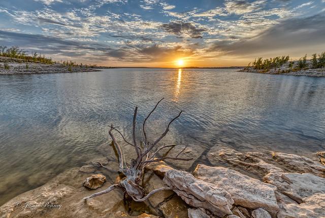 Lake Amistad sunset