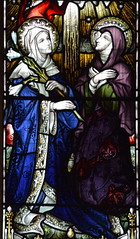 Blessed Virgin and St Clare (Hardman & Co, 1912)