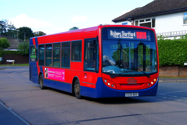 Enviro Stint: Trustybus (ex Arriva London ENL38) ADL Enviro200 10.2m CC55BUS (formerly LJ09KRE) Croasdaile Road Stansted Mountfitchet 27/09/21