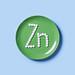 Vitamin Zink symbol on green table