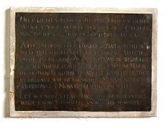 'Let noe man steale away this brasse but hee whoe knowes himselfe unworthie memorye' (1656)