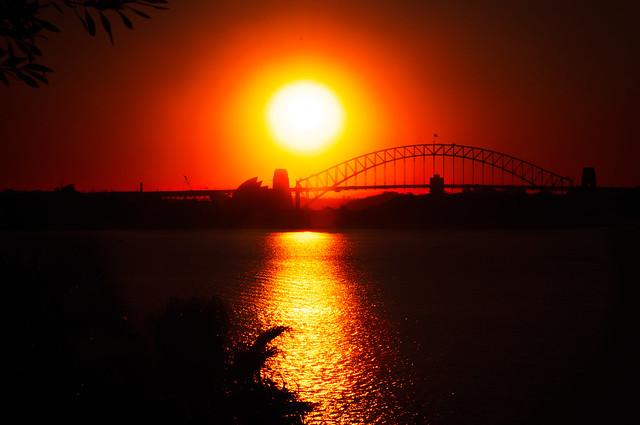 Opera sunset magic