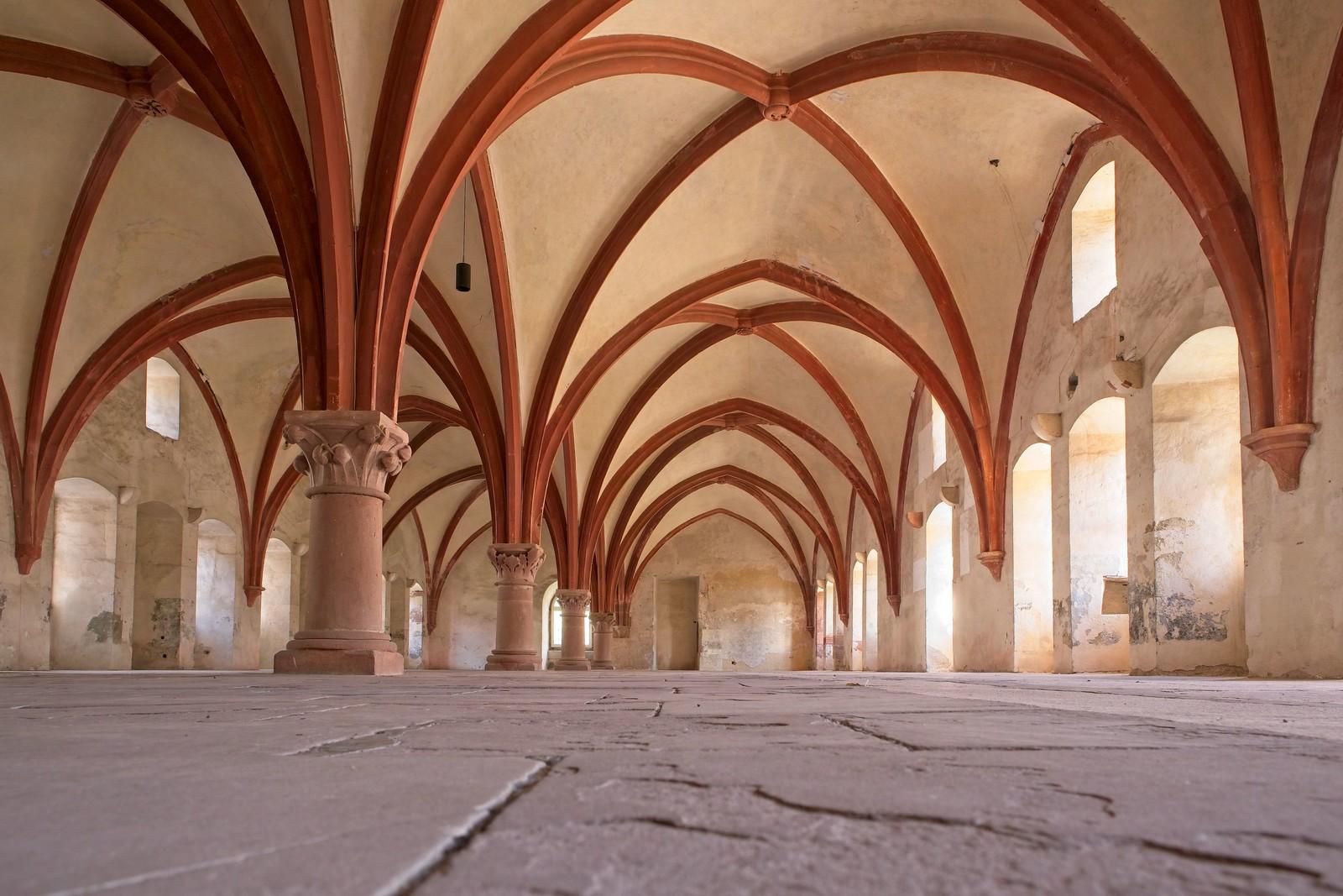 Mönchsdormitorium, Schlafsaal der Mönche - Kloster Eberbach