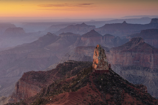 Ethereal sunrise at the Grand Canyon
