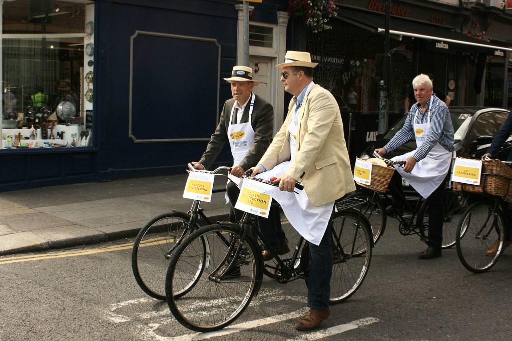 Cyclists in Dublin, Ireland