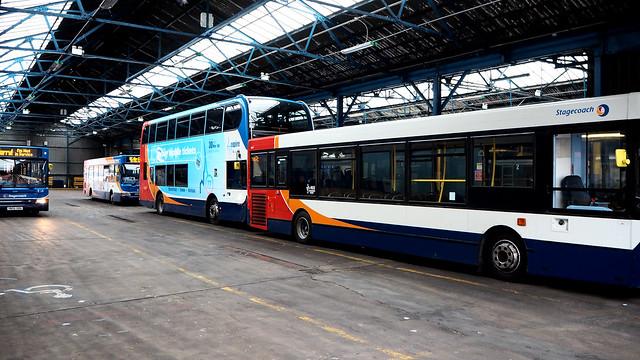 Stagecoach Bus Garage, Worksop, Nottinghamshire