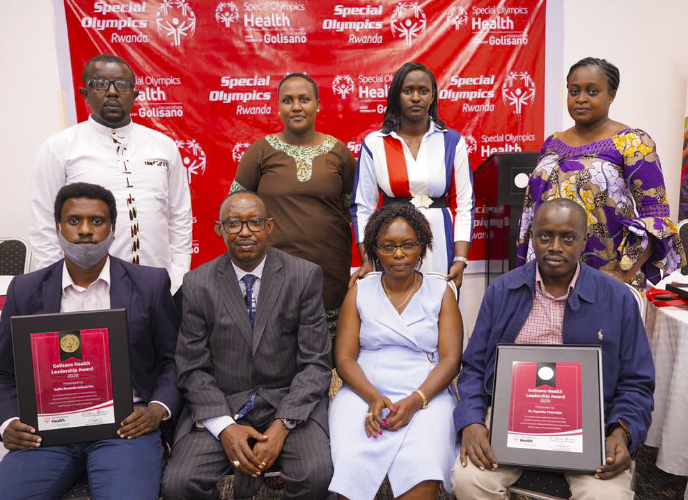 Special Olympics Rwanda held the second event of Golisano Health Leadership Awards. The awards recognize contributions from partners towards the development of Inclusive Health i ( (7)