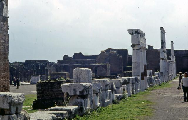 Naples 13 Pompei forum Italy March 1972