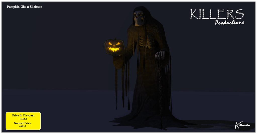 """Killer's"" Pumpkin Ghost Skeleton On Discount @ Uber Starts From 25th September"