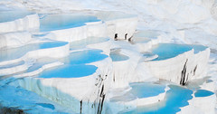 Pamukkale-Cotton Castle Old Travertine(Whte and Blue)