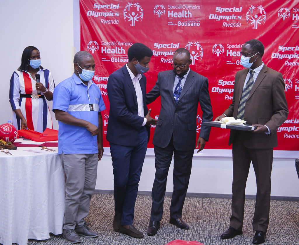 Special Olympics Rwanda held the second event of Golisano Health Leadership Awards. The awards recognize contributions from partners towards the development of Inclusive Health i ( (4)