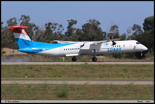 BOMBARDIER DASH8 Q402 Luxair LX-LQB 4512 Bastia aout 2021
