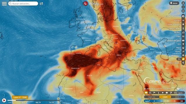 Volcán de La Palma: evolución de dióxido de azufre SO2