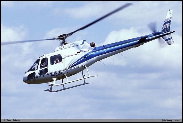 AS350 B HCA F-GDRQ 1832 Phalsbourg juin 2003