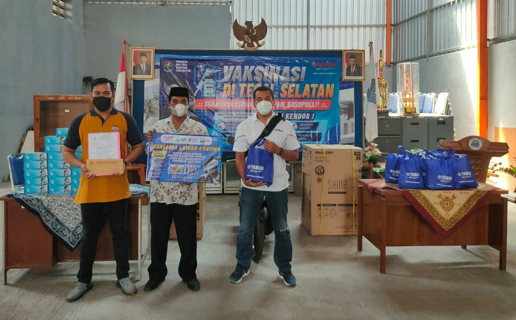 Program Vaksinasi Covid-19 di Tegal Selatan, Ada Sembako dan Hadiah Motor Yamaha