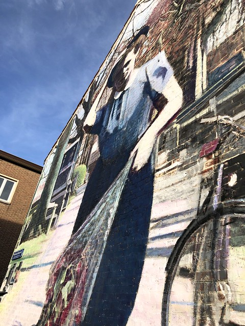 "Beautiful mural ""Hortense Daman"" - Leuven"